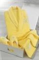 Dámský krátký župan LILIUM + pantofle + ručník + dárkový box