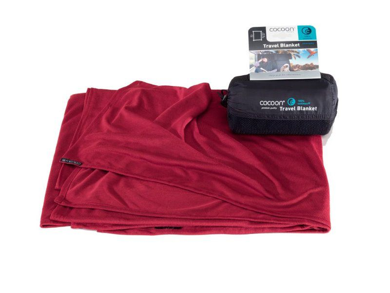 Cocoon cestovní deka Coolmax monk´s red 180 x 140 cm