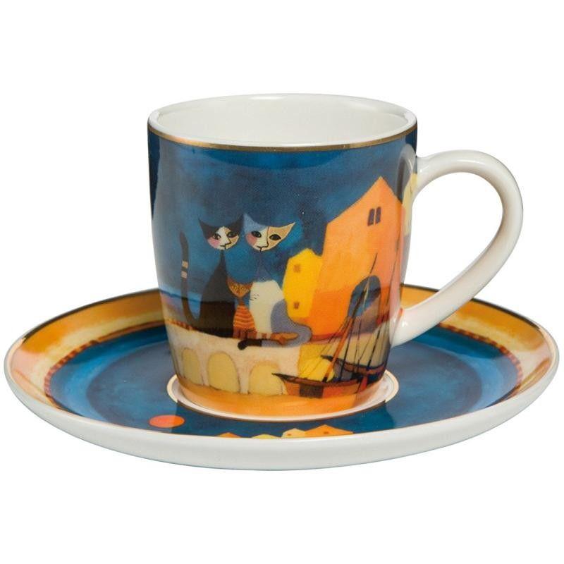 Goebel Hrnek Šálek s podšálkem espresso I COLORI DEL TRAMONTO 0,1 l / 7 cm