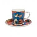 Šálek s podšálkem espresso PAPAVERA 0,1 l / 7 cm