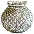 Váza Skleněná váza Silver round Green Gate