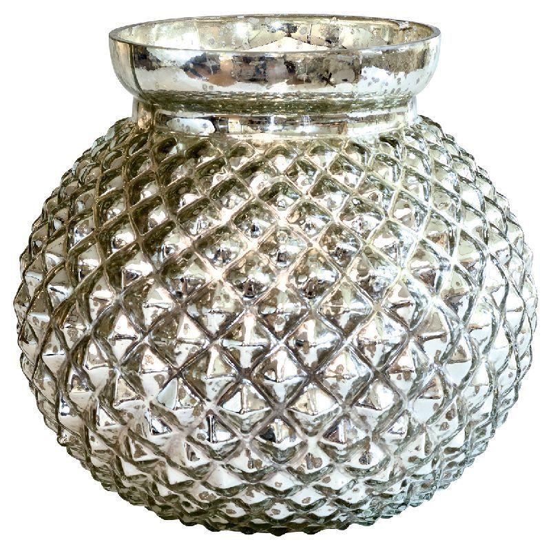 Green Gate Skleněná váza Silver round