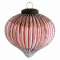 Vánoční baňka Onion Glass Rose