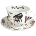 Porcelánový šálek s podšálkem Concert 0,45l