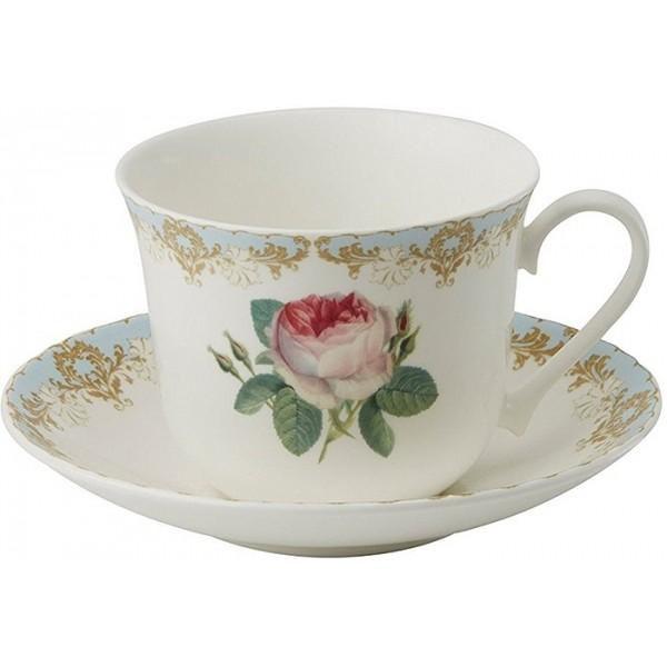 Roy Kirkham Vintage rose porcelánový šálek s podšálkem 0,45l