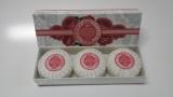 Přírodní plisovaná mýdla Růže 3x100g