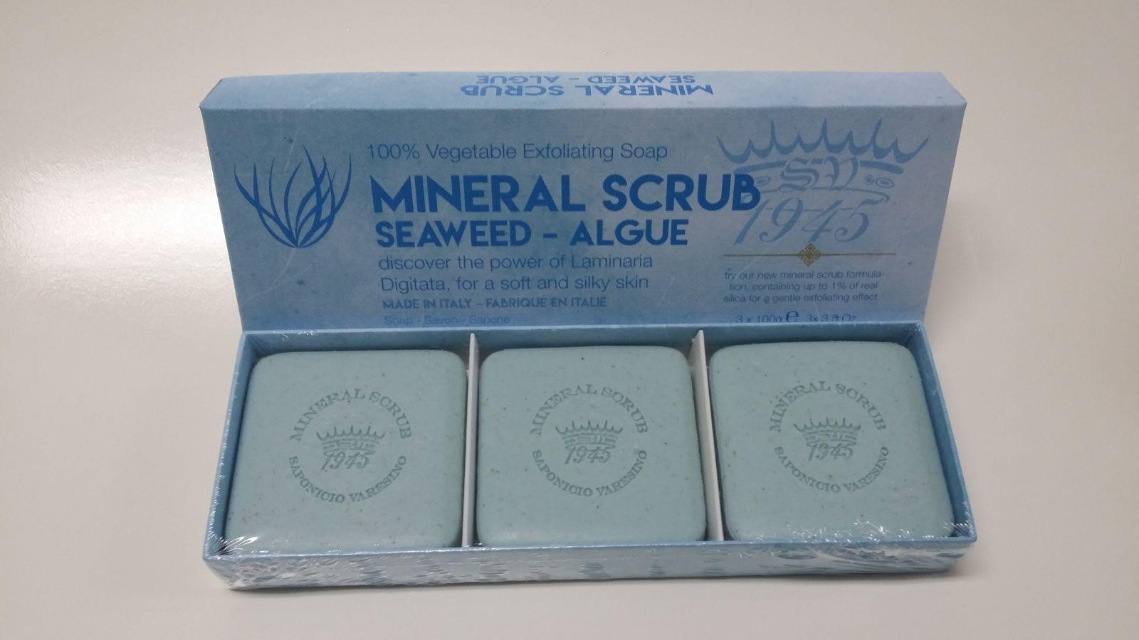Saponificio Varesino - Mineral scrub Seaweed 3 x 100 g