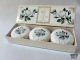Přírodní plisovaná mýdla Bílá růže 3x100g