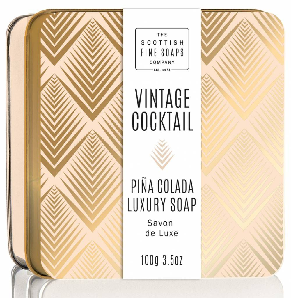 SCOTTISH FINE SOAPS MÝDLO V PLECHU COCKTAIL PINA COLADA, 100G Schottish Fine Soaps