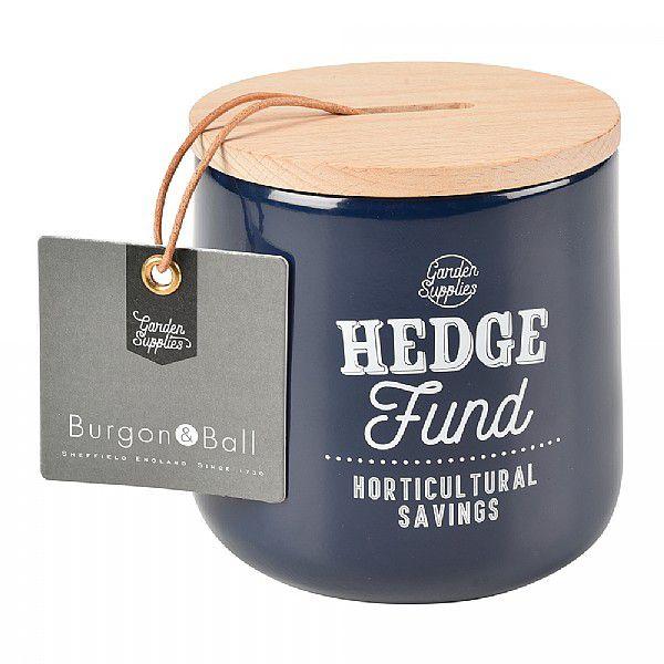 Burgon&Ball Plechová pokladnička s dřevěným víkem Atlantic