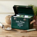 Plechový box na semínka, kožené rukojeti Burgon&Ball