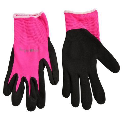 Burgon&Ball Zahradní rukavice FloraBrite® pink, reflexní logo