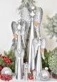 Plechový anděl se srdíčkem 10,5 cm, stříbrný