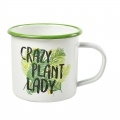 Smaltovaný hrnek Crazy Plant Lady Mug