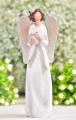 Anděl juta bílý se srdíčkem 20,5 cm