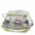 Enesco Elderberry Cup & Saucer, šálek s podšálkem, výška 9,5cm