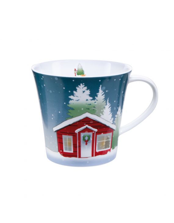 Goebel Hrnek porcelánový CHRISTMAS AT HOME