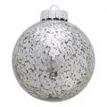 Vánoční ozdoba Flora sparkling silver