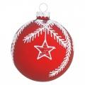 Vánoční ozdoba Flora red w/glitter