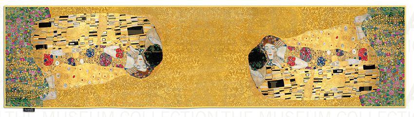 Plumeria Hedvábná šála The Kiss Gold Gustav Klimt a32932680d