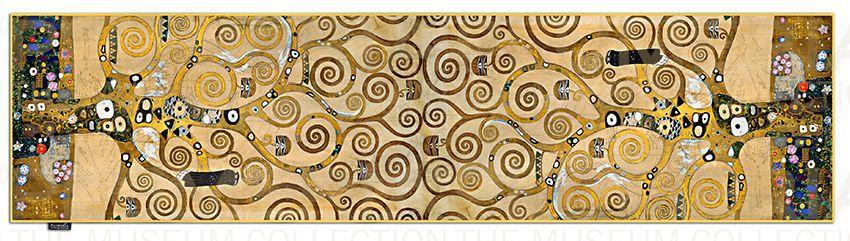 Plumeria Hedvábná šála The Tree of Life- Strom života Gustav Klimt