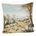 Povlak na polštář Winter Landscape Pieter Bruegel the Elder