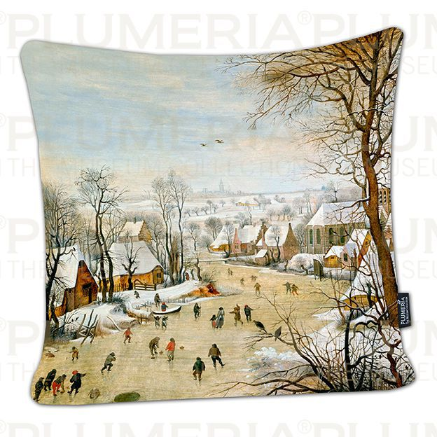 Plumeria Povlak na polštář Winter Landscape Pieter Bruegel the Elder