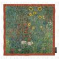 Hedvábný šátek Garden with Sunflowers - Zahrada Gustav Klimt