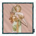 Hedvábný šátek The Seasons: Spring Alfons Mucha