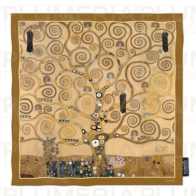 Plumeria Hedvábný šátek The Tree of Life Gustav Klimt