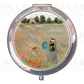 Plumeria Kosmetické zrcátko Poppies near Argenteuil Claude Monet