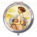 Kosmetické zrcátko The Seasons: Summer Alfons Mucha