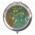 Kosmetické zrcátko Garden with Sunflowers - Zahrada Gustav Klimt
