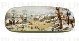 Pouzdro na brýle s utěrkou Winter Landscape Pieter Bruegel the Elder