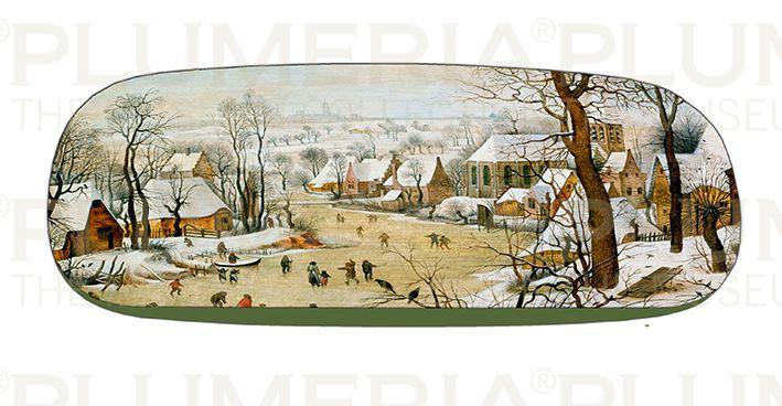 Plumeria Pouzdro na brýle s utěrkou Winter Landscape Pieter Bruegel the Elder