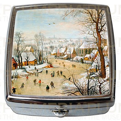 Plumeria Pill - Box - Lékovka Winter Landscape Pieter Bruegel the Elder