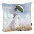 Povlak na polštář Women with Parasol Claude Monet
