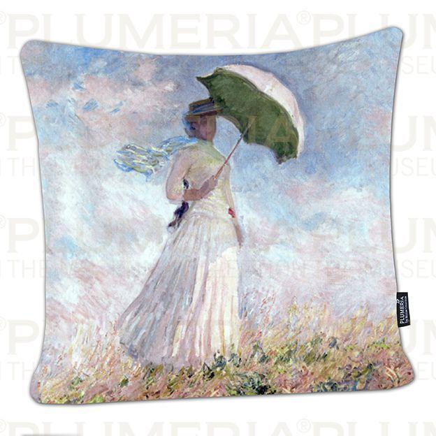 Plumeria Povlak na polštář Women with Parasol Claude Monet