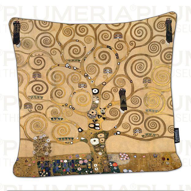 Plumeria Povlak na polštář The Tree of Life Gustav Klimt
