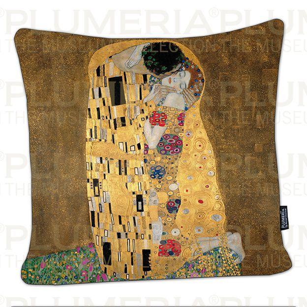 Plumeria Povlak na polštář The Kiss Gustav Klimt