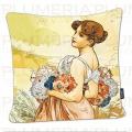 Povlak na polštář Seasons: Summer Alfons Mucha
