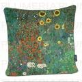 Povlak na polštář Garden with Sunflowers - Zahrada Gustav Klimt