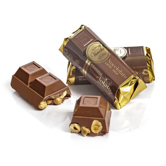 Venchi Mléčná čokoládová cihlička s lískovými oříšky, 150g