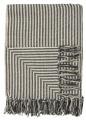 Bavlněný přehoz Wide Black Stripes 130 x 160cm