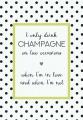 Plechová cedule I only drink Champagne
