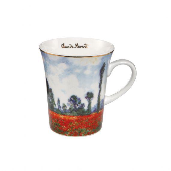 Goebel Porcelánový hrnek Pole vlčí máky Claude Monet