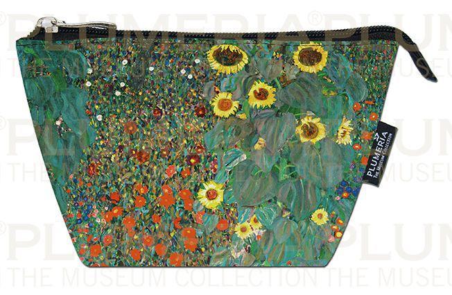 Plumeria Kosmetická taštička Garden with Sunflowers - Zahrada Gustav Klimt