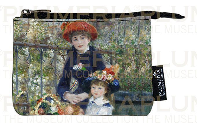 Plumeria Peněženka mini Two Sisters on the Terrace Pierre-Auguste Renoir