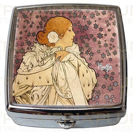 Plumeria Pill - Box - Lékovka La Dame Aux Camelias Alfons Mucha