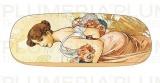 Pouzdro na brýle s utěrkou Four Seasons: Summer  Alfons Mucha